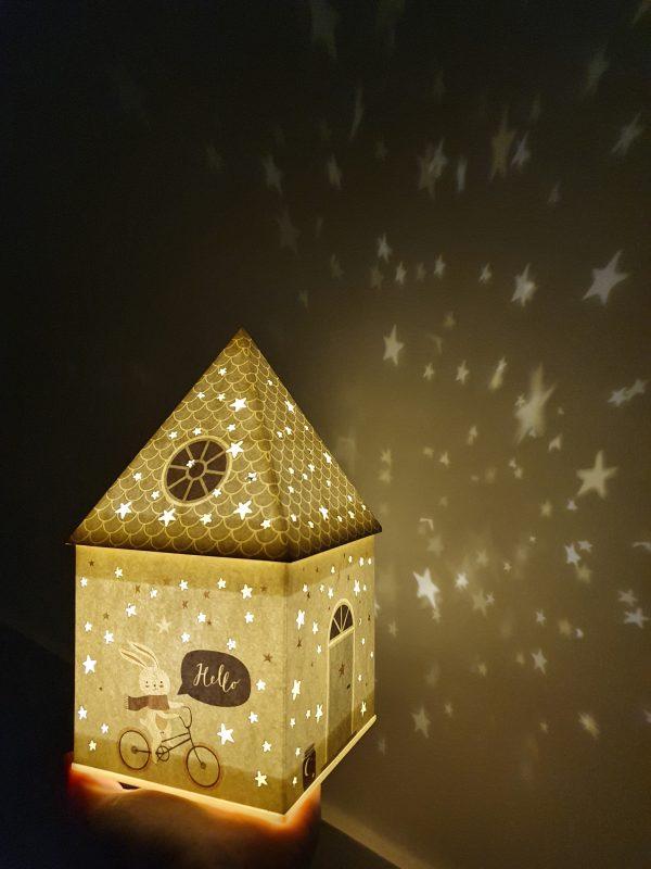 vaikiški šviestuvai - naktinė lempa namelis