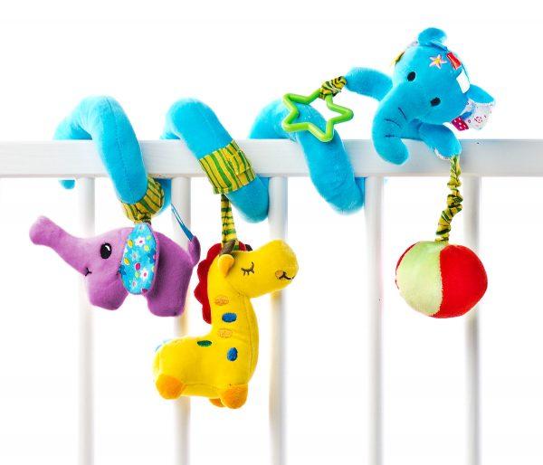 minkštas žaislas spiralė drambliukas sensillo