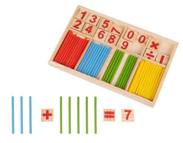 Medinis skaičiavimo žaidimas su pagaliukais