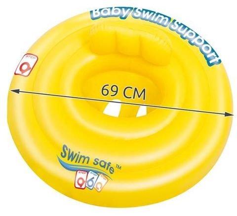 Pripučiamasis plaukimo ratas kūdikiams Bestway, Ø69 cm